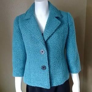 CAbi Turquoise Blue Blazer Size 4